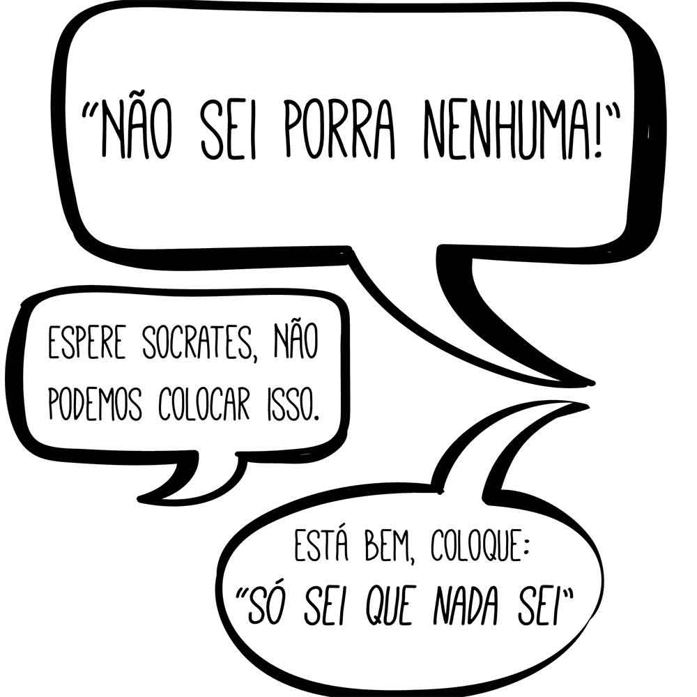 Adesivo de Parede Diálogo Sócrates