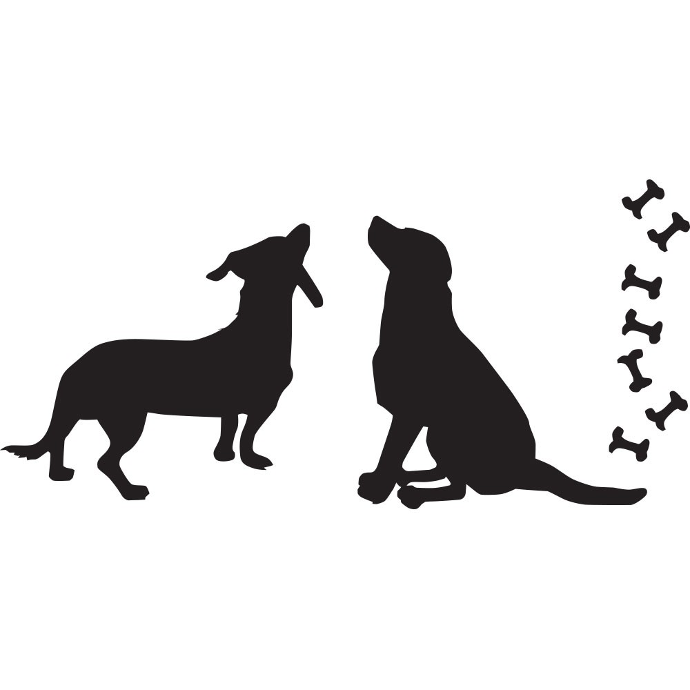 Adesivo de Parede Dogs