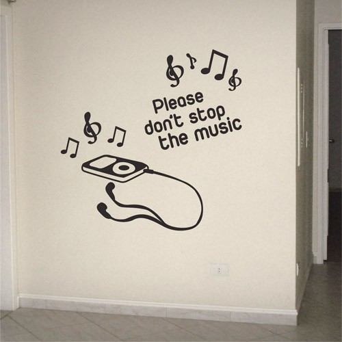 Adesivo de Parede Don't Stop The Music