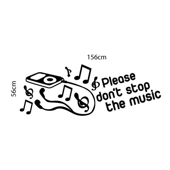 Adesivo de Parede Dont Stop The Music
