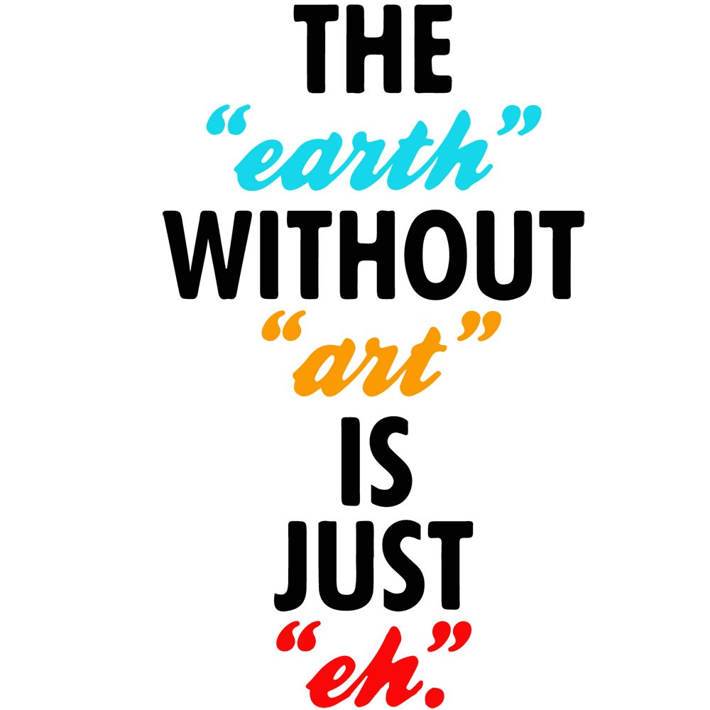 Adesivo de Parede Earth Without Art