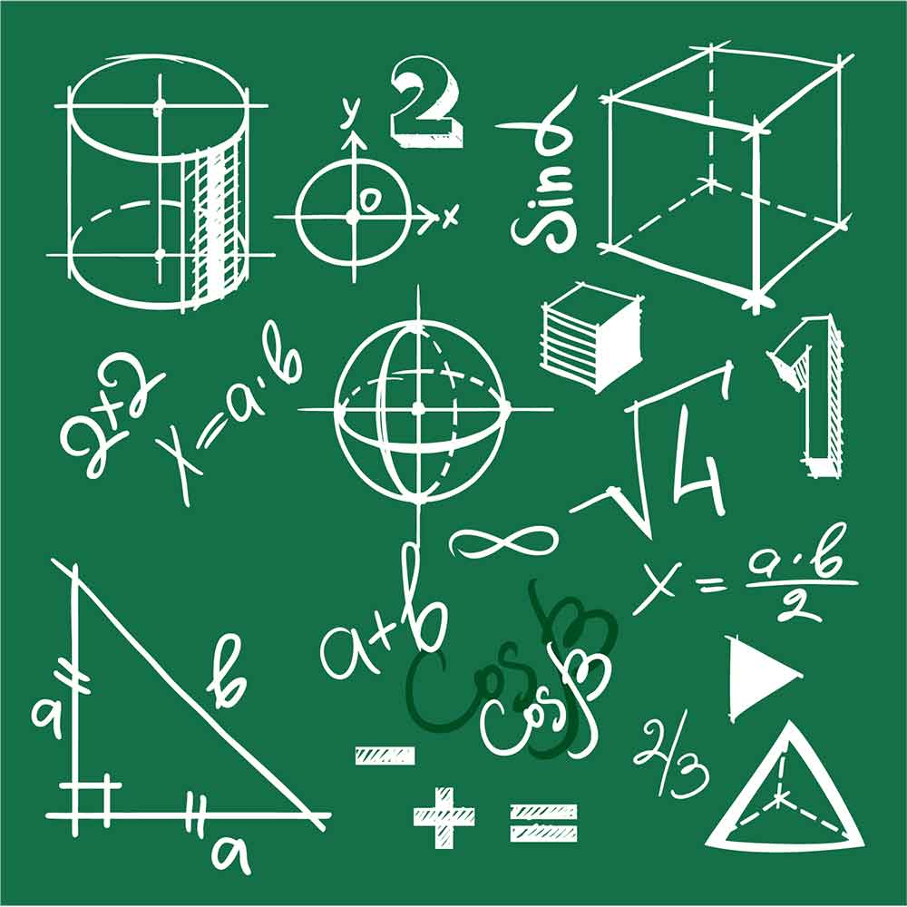 Adesivo de Parede Elementos Matemática