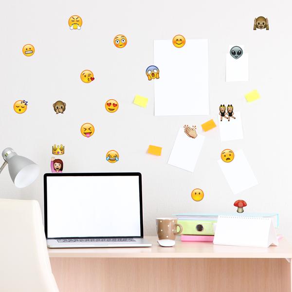 Adesivo de Parede Emojis