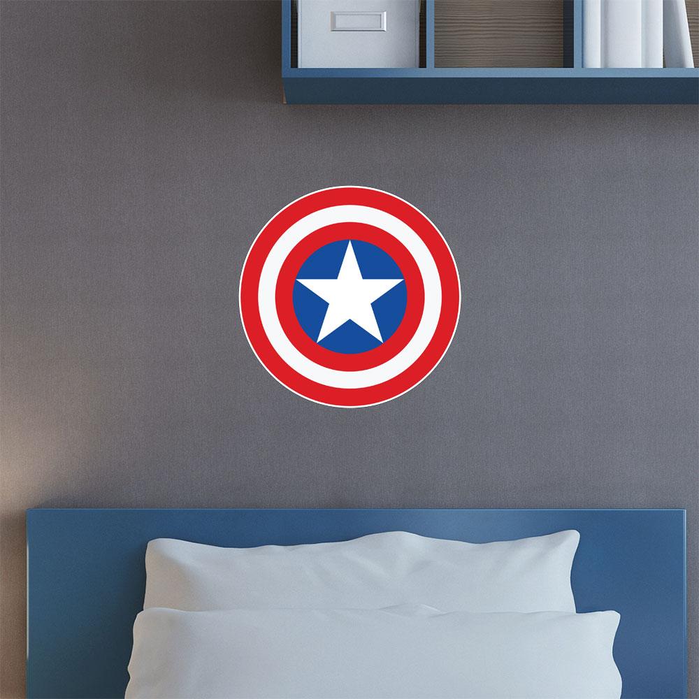 Adesivo de Parede Escudo Capitão América