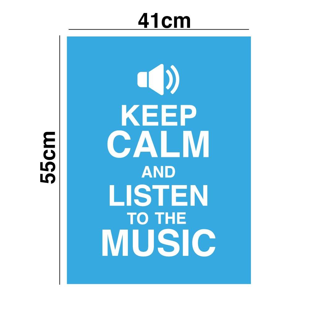 Adesivo de Parede Escute a Musica