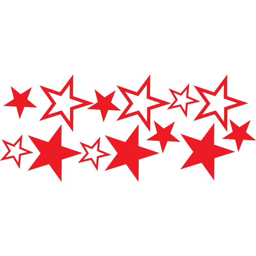 Adesivo de Parede Estrelas Vermelhas