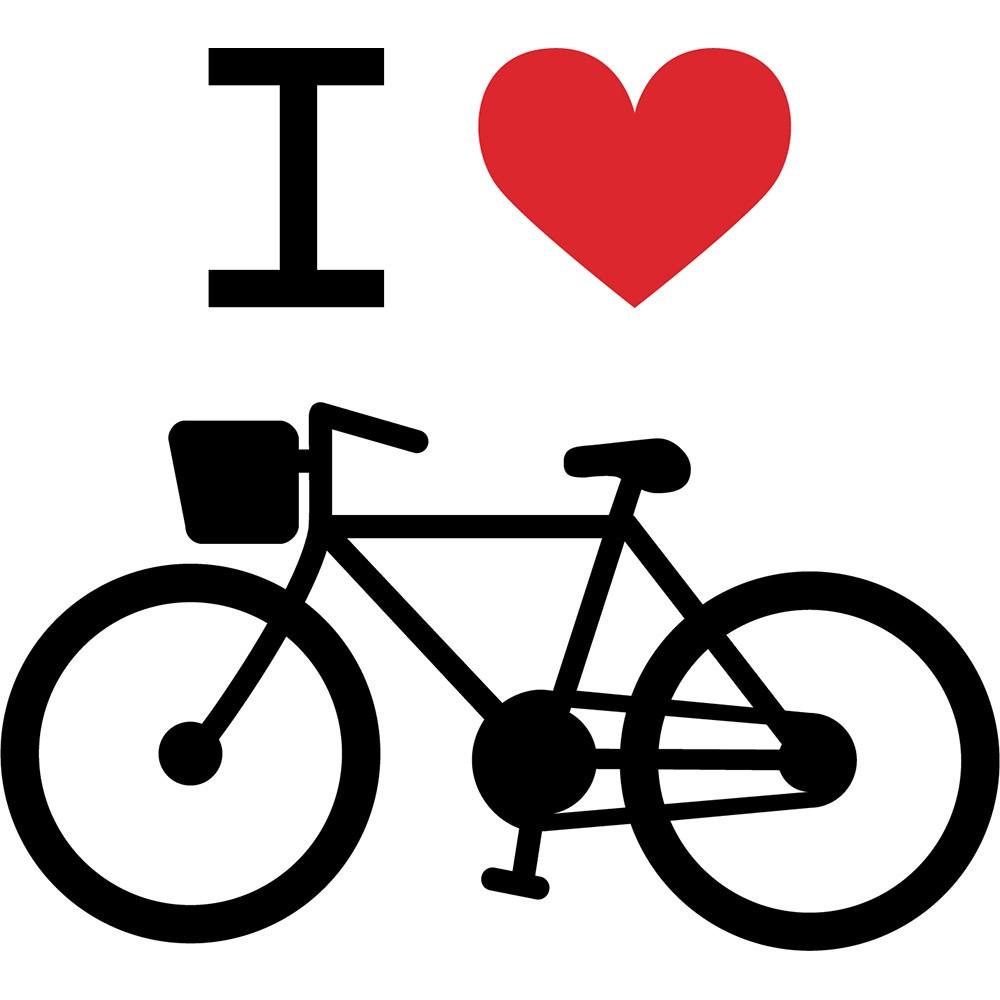 Adesivo de Parede Eu Amo Bicicleta