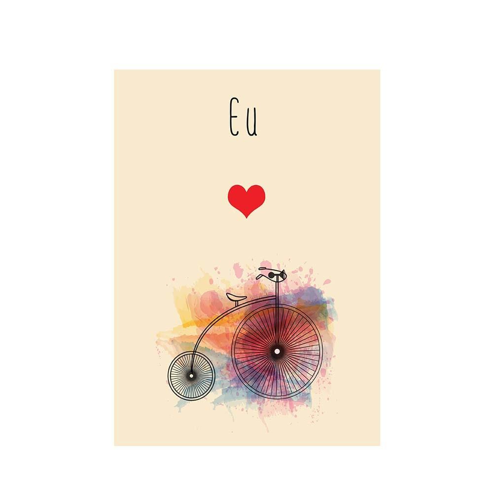 Adesivo de Parede Eu Amo Bike
