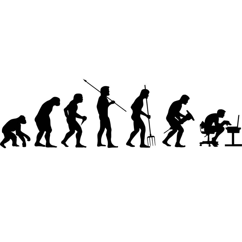 Adesivo de Parede Evolução Humana Tecnológica
