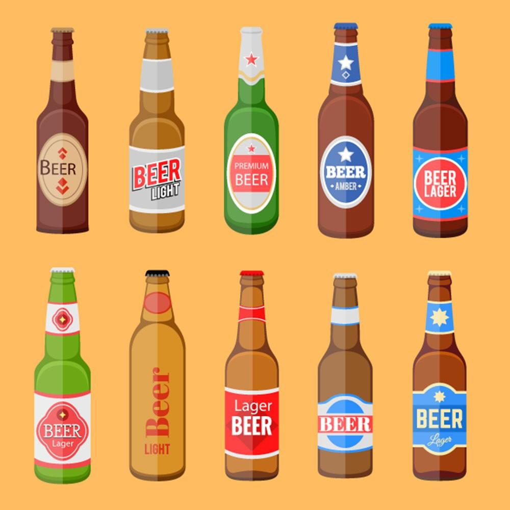 Adesivo de Parede Faixa Bebidas em Icone
