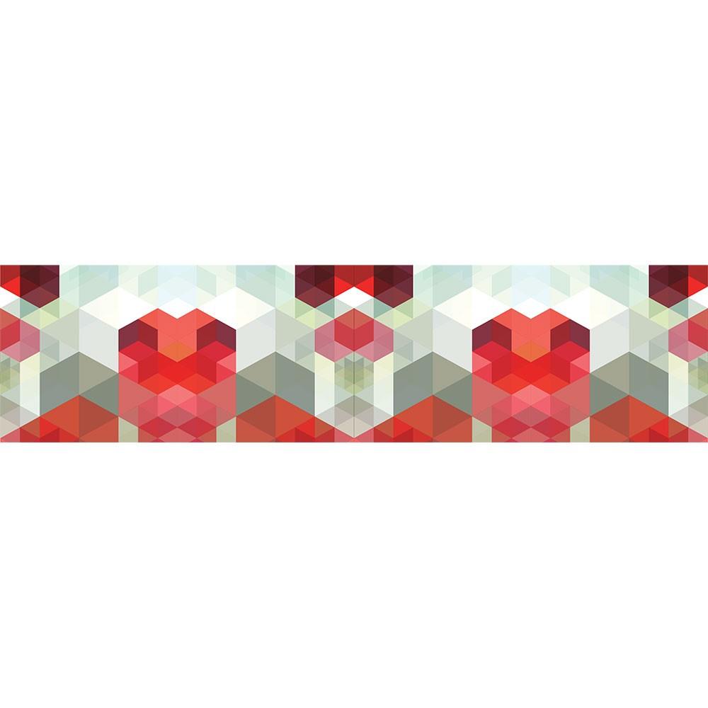 Adesivo de Parede Faixa Cubos Tridimensionais