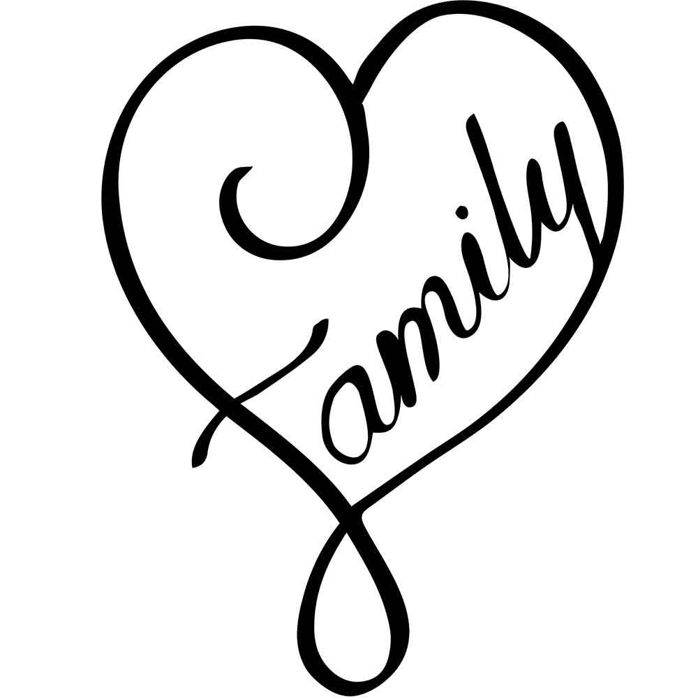 Adesivo de Parede Family Heart
