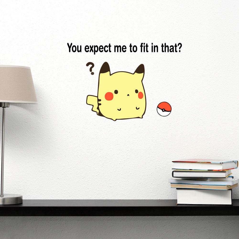 Adesivo de Parede Fat Pikachu