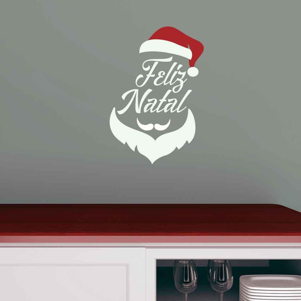 Adesivo de Parede Feliz Minimalista Feliz Natal