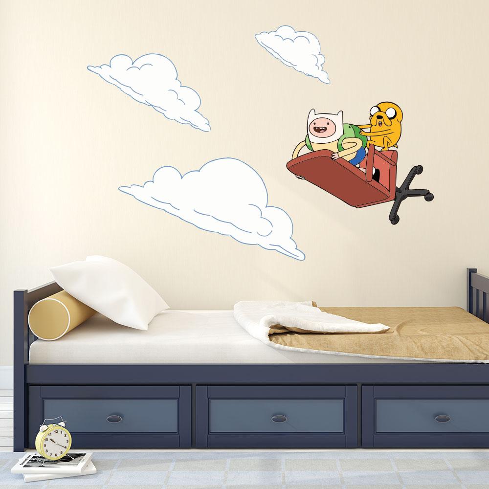 Adesivo de Parede Finn and Jake Adventure Time
