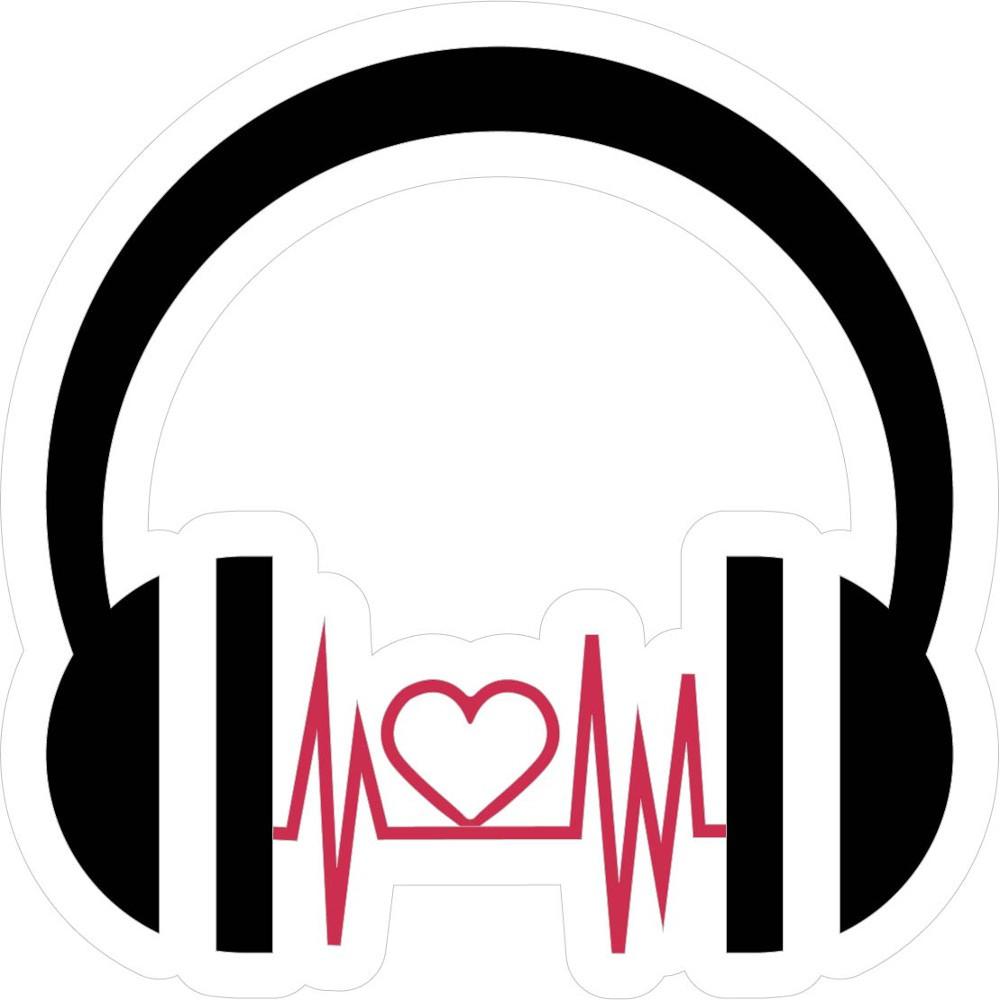 Adesivo de Parede Fone Coração
