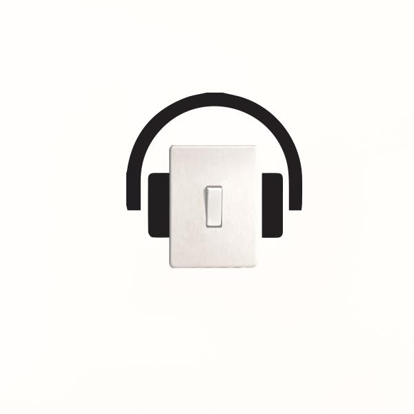 Adesivo de Parede Fone de Ouvido