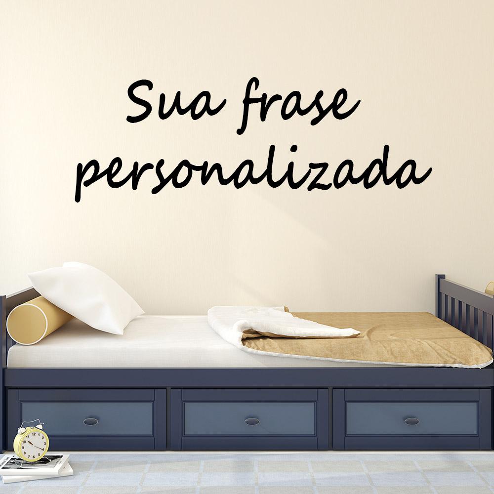 Adesivo de parede Frase Personalizada 60cm