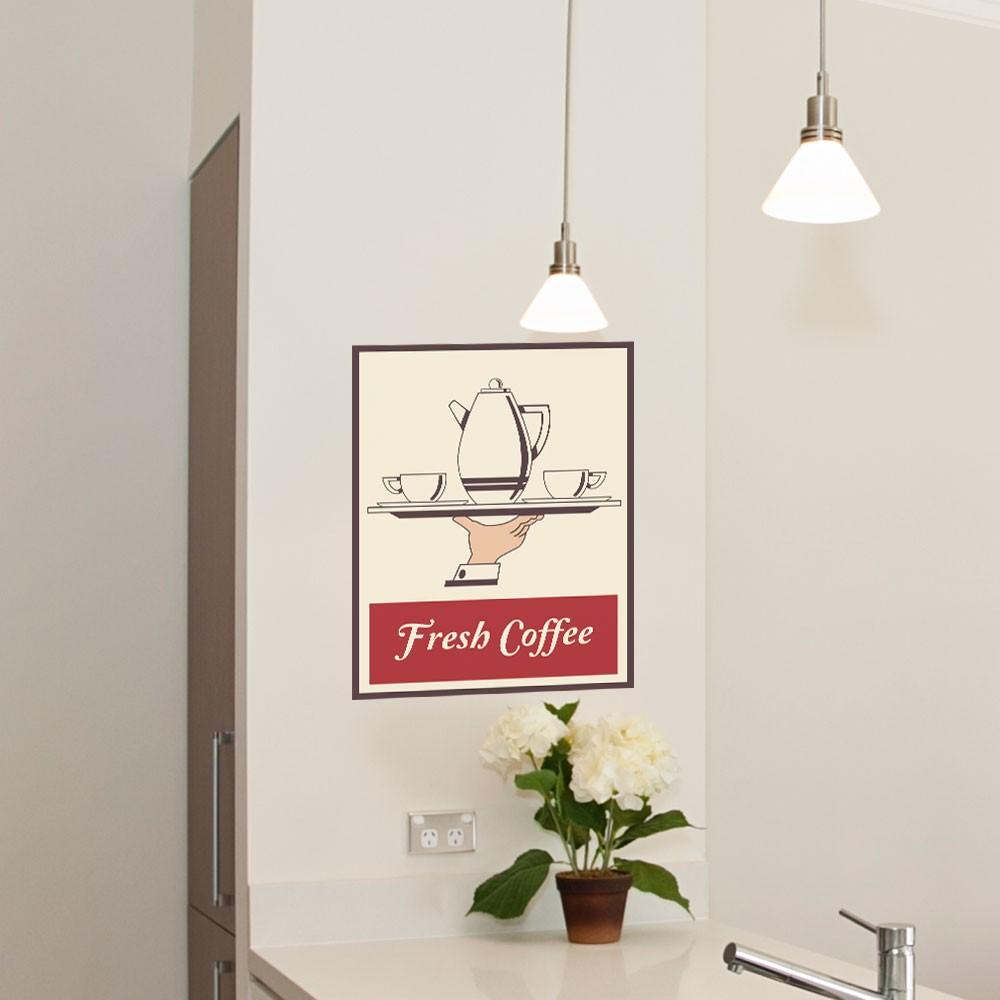 Adesivo de Parede Fresh Coffee
