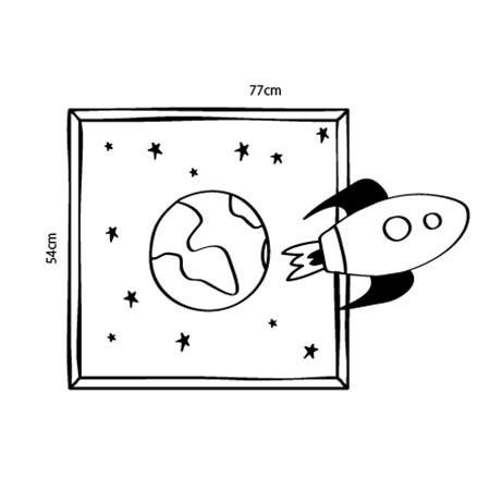 Adesivo de Parede Fugindo Para o espaço