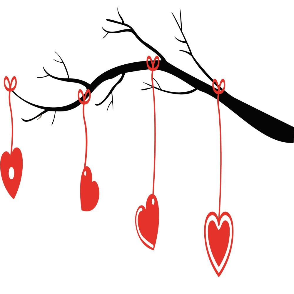 Adesivo de Parede Galho do Amor