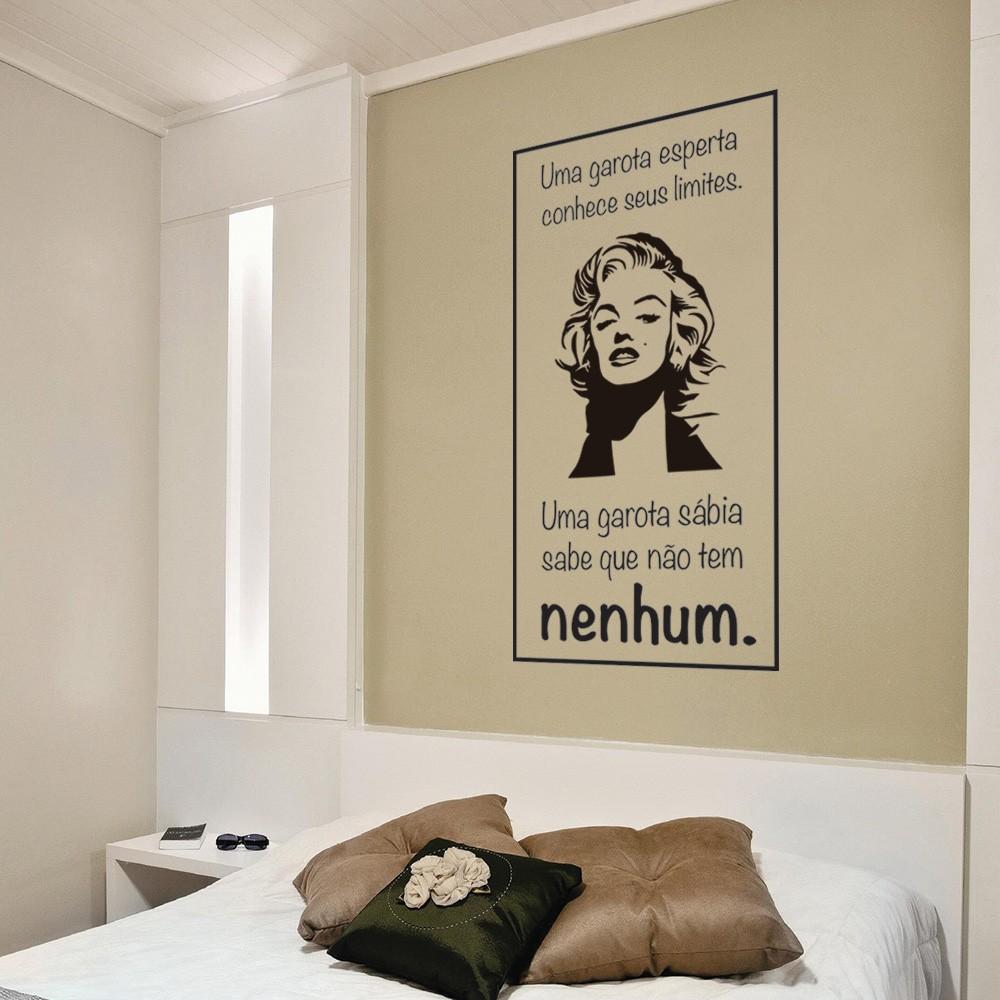 Adesivo de Parede Garota Esperta Marilyn Monroe