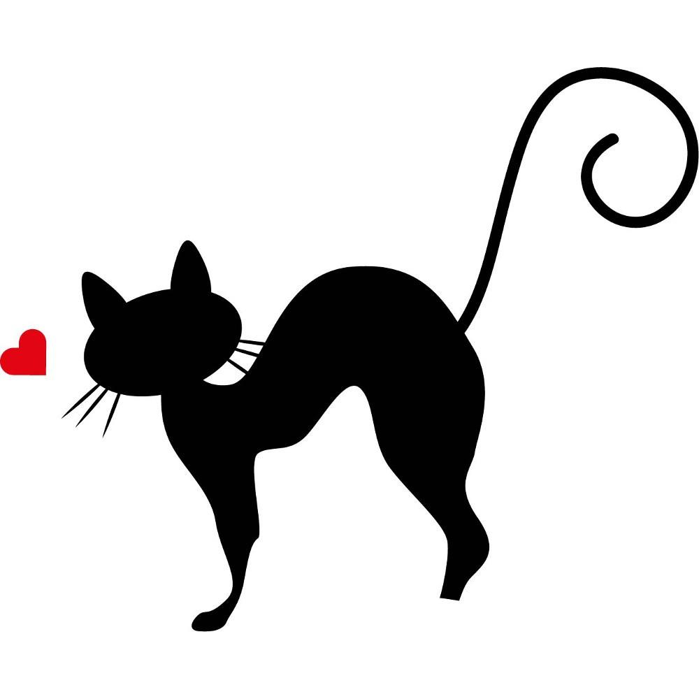Adesivo de Parede Gato Carinhoso