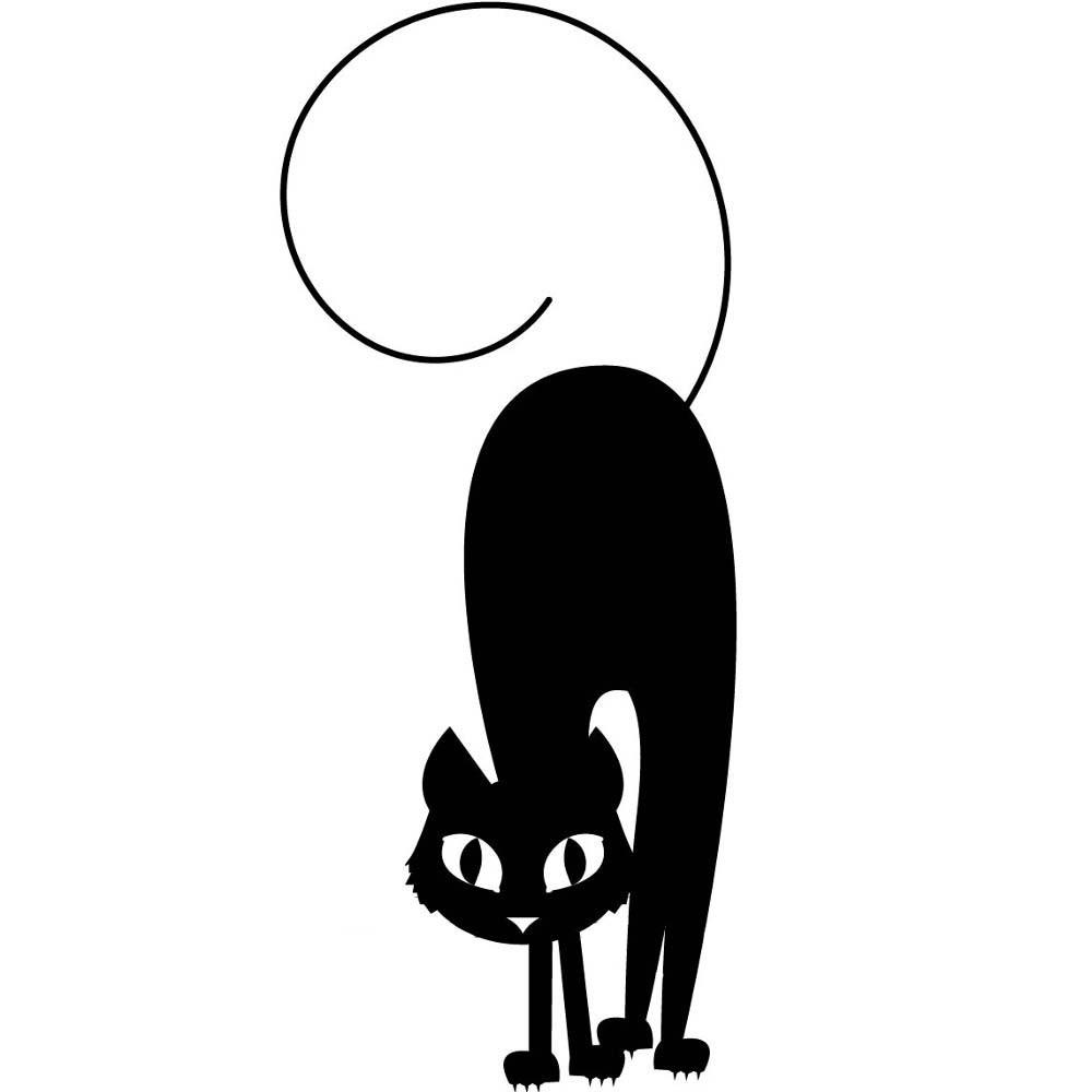 Adesivo de Parede Gato Curvado
