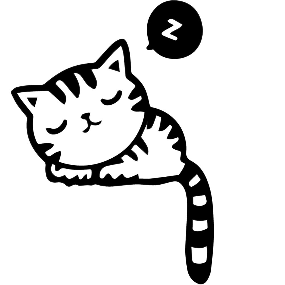 Adesivo de Parede Gato Dormindo