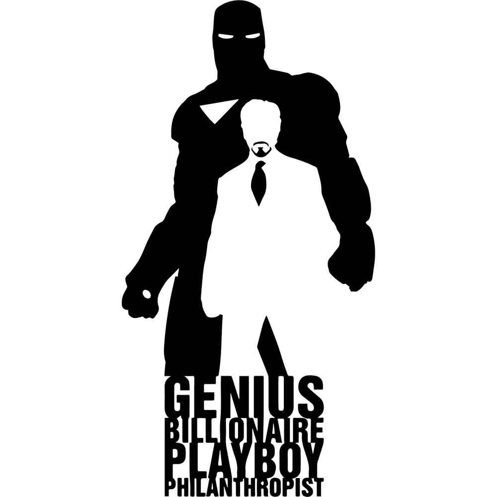 Adesivo de Parede Genius Billionaire Playboy