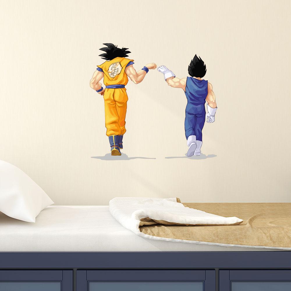 Adesivo de Parede Goku e Vegeta