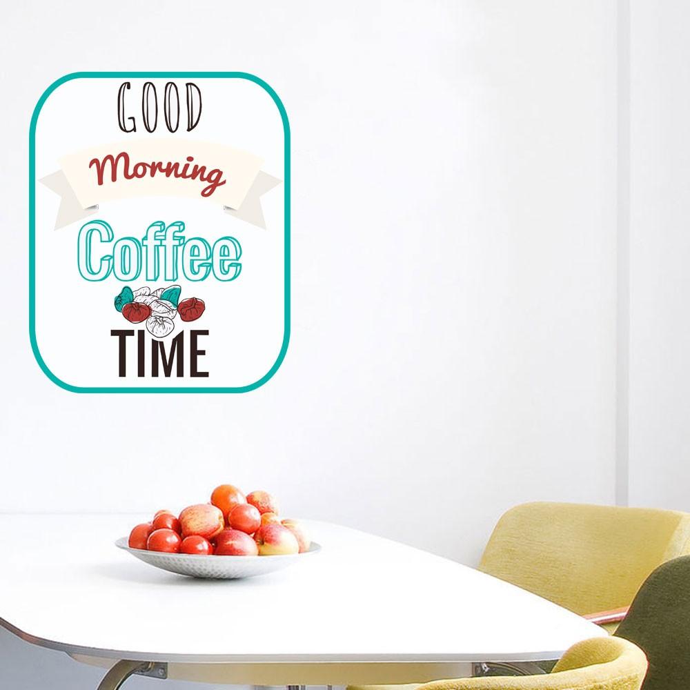Adesivo de Parede Good Morning Coffee Time