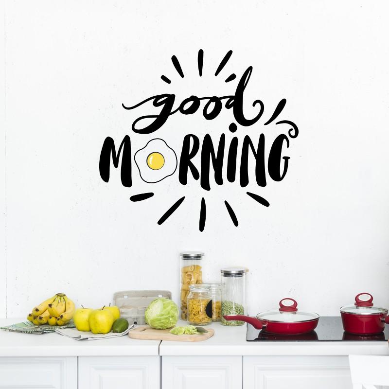 Adesivo de Parede Good Morning Ovo