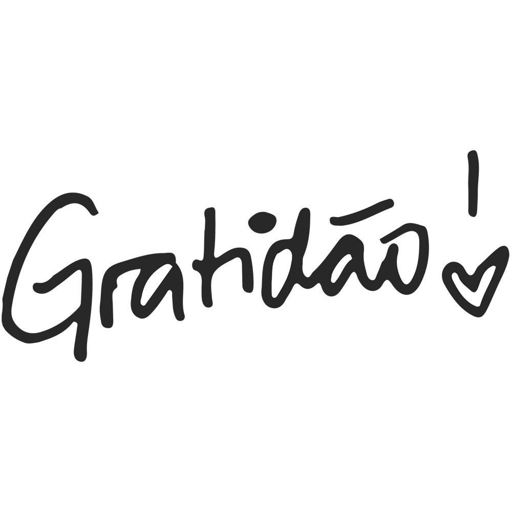Adesivo de Parede Gratidão !