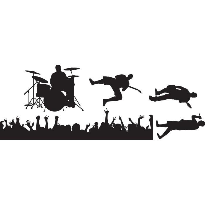 Adesivo de Parede Grupo Musical