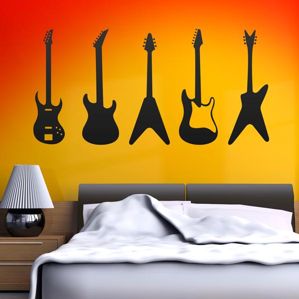 Adesivo de Parede Guitarras
