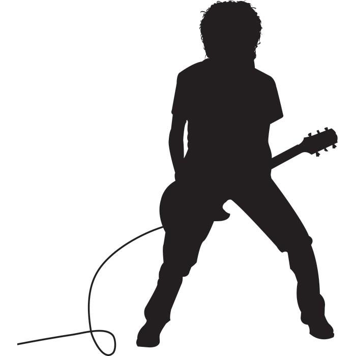 Adesivo de Parede Guitarrista