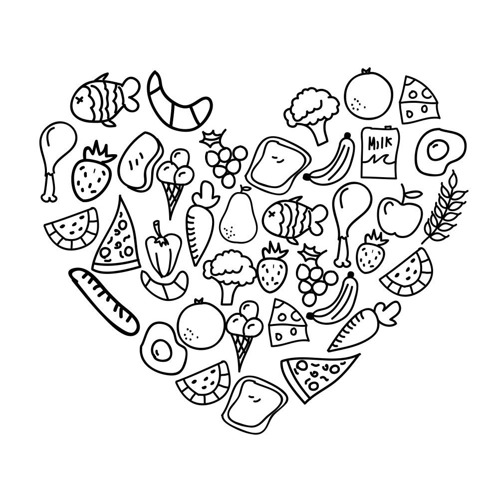 Adesivo de Parede Heart food