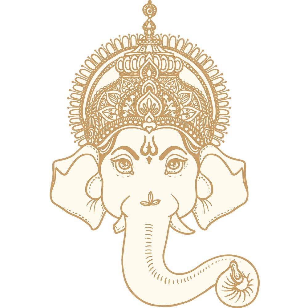 Adesivo de Parede Hindu Elephant God Ganesh