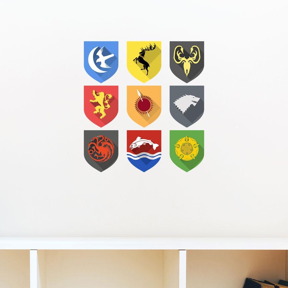 Adesivo de Parede Houses of Game Of Thrones