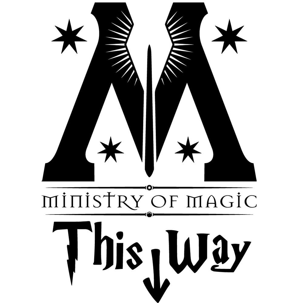 Adesivo de Parede HP Ministry of Magic