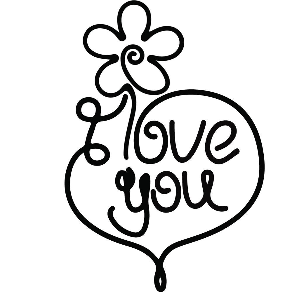 Adesivo de Parede I Love You Coração