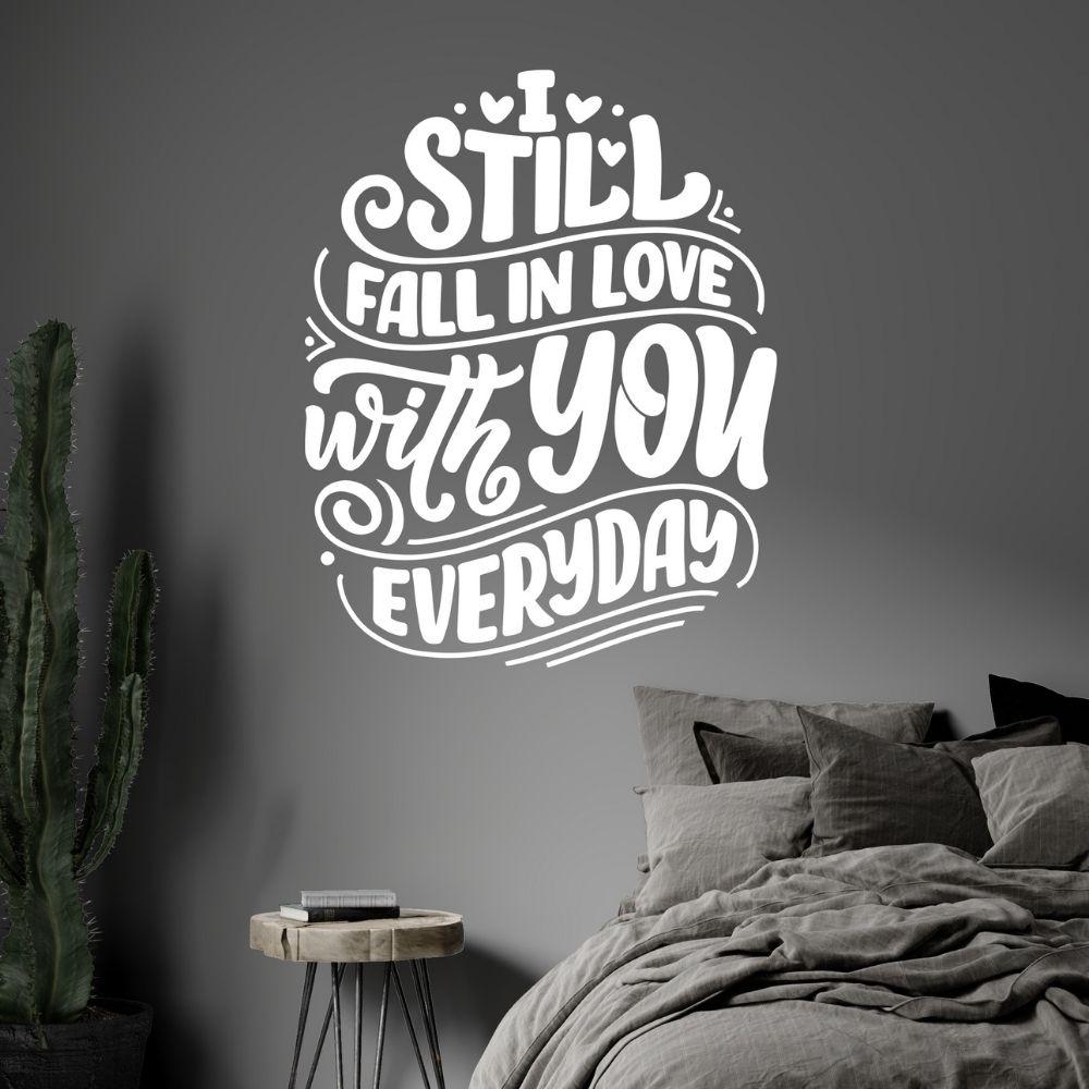 Adesivo de Parede I love You Everyday