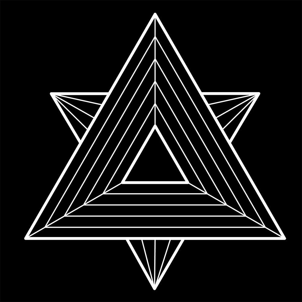 Adesivo de Parede Illusion White Triangle