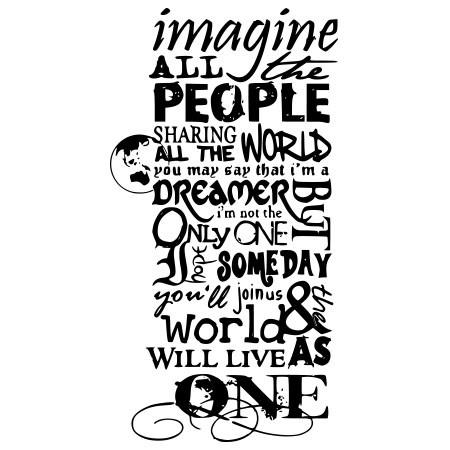 Adesivo de Parede Imagine John Lennon