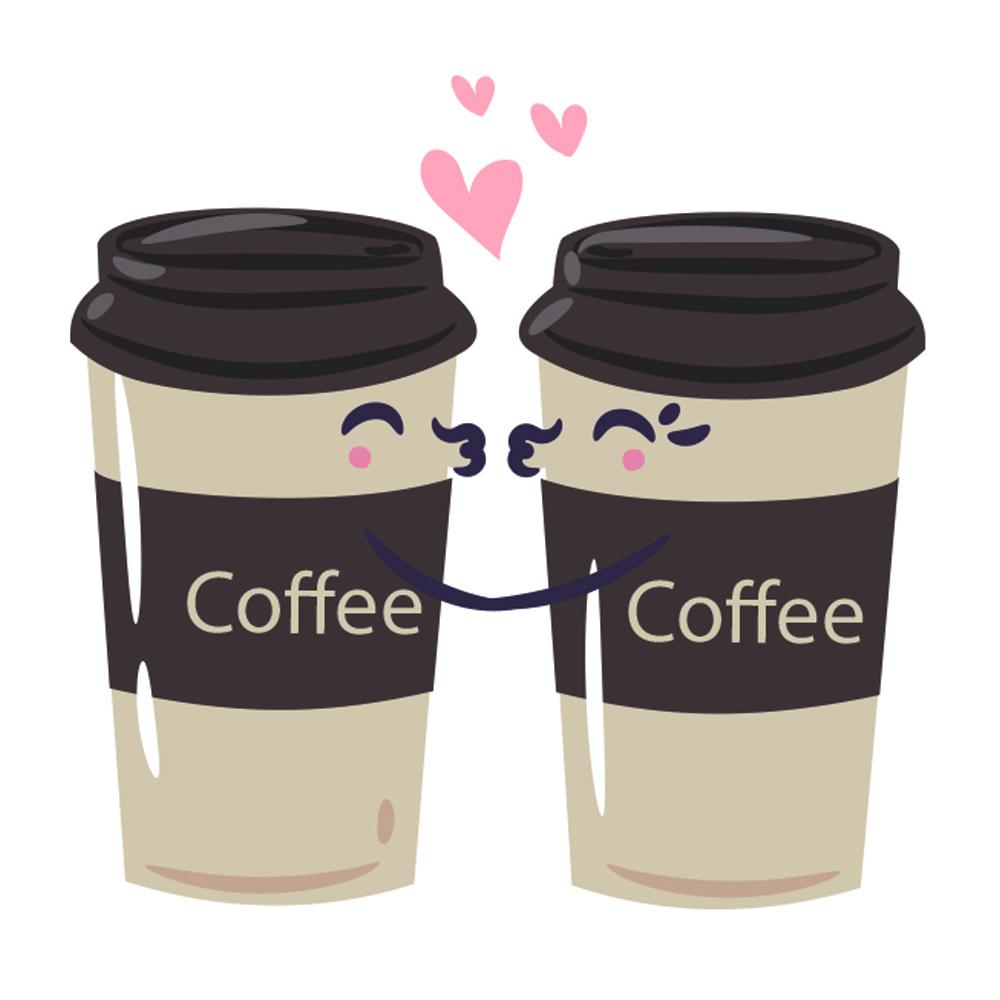 Adesivo de Parede In Love Café