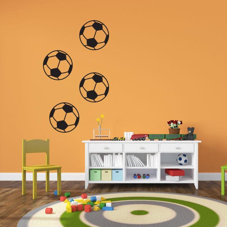 Adesivo de Parede Infantil Bolas Futebol