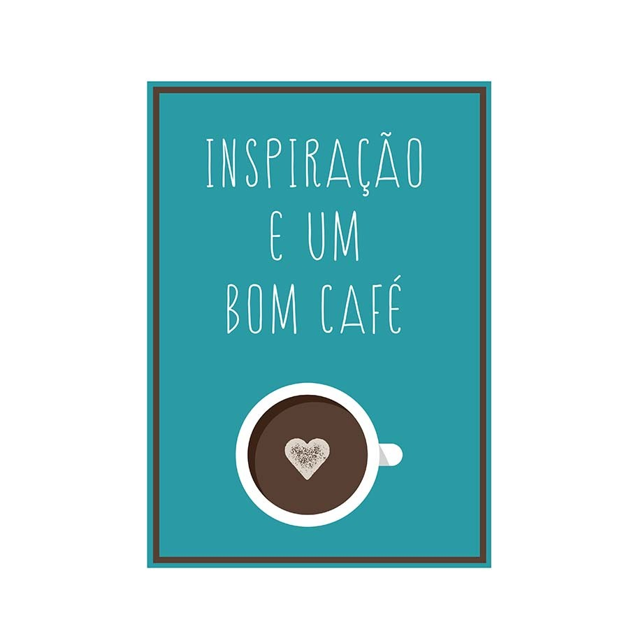 Adesivo de Parede Inspiração e Um Bom Café