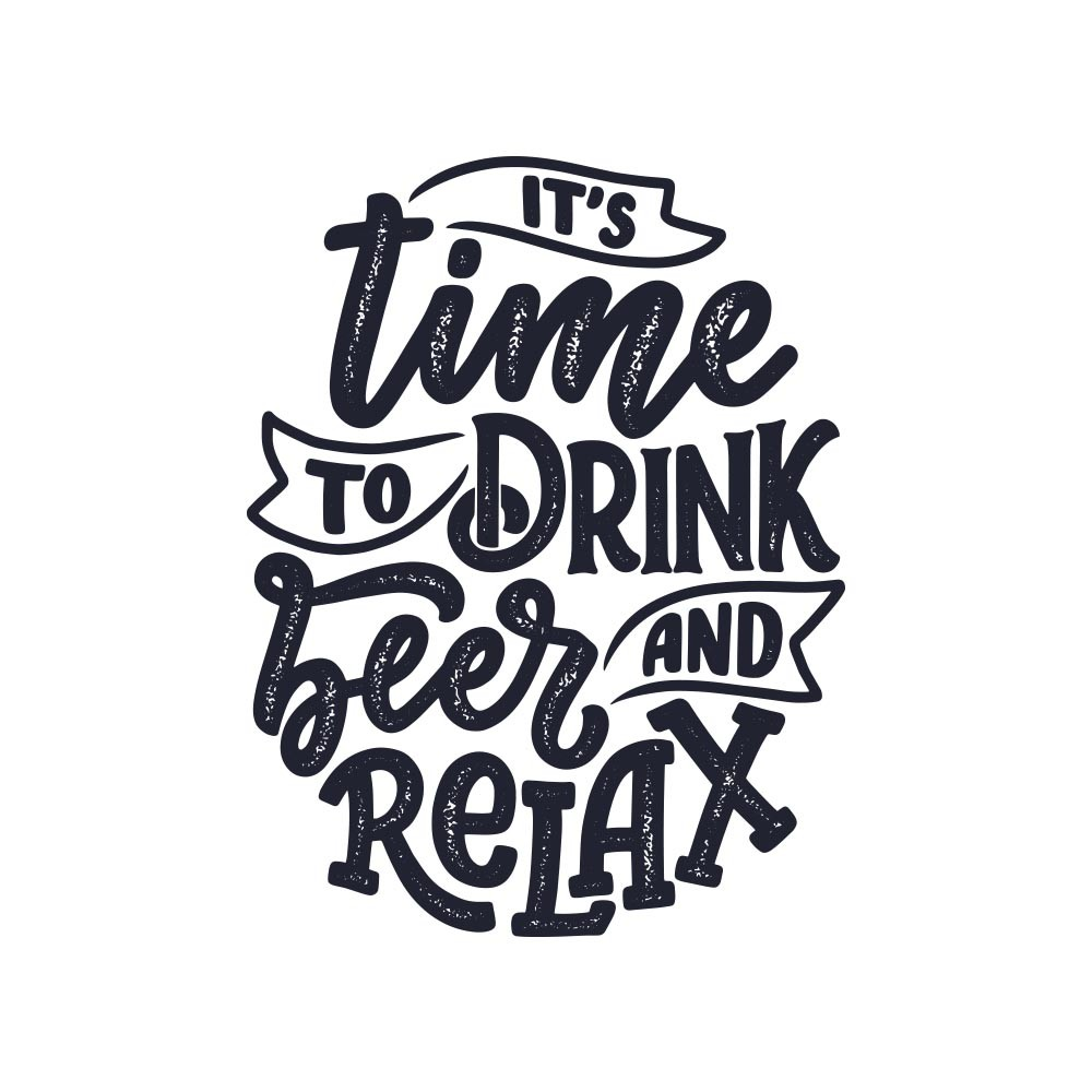 Adesivo de Parede It\'s time to drink a beer