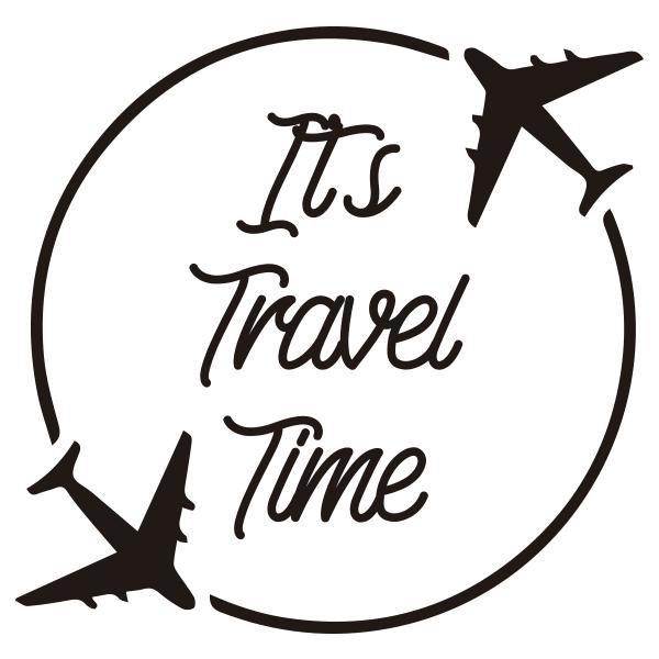 Adesivo de parede Its Travel Time